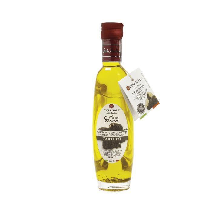 COLLITALI Bouteille -poignéee design- FIORE huile olive Italie saveur truffe - 125 ml