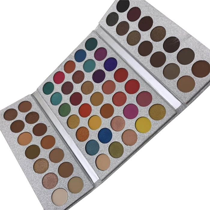 64 couleurs haute brillance mat fard à paupières paillettes ombre à paupières imperméable à l'eau pigment durable ombre à paupières