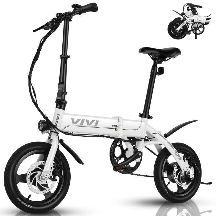VIVI Vélo Électrique Pliable, 14- Ebike de Ville pour Adultes/Hommes/Femmes, Batterie Amovible7.8Ah, Vitesse jusqu'à 25 km/h