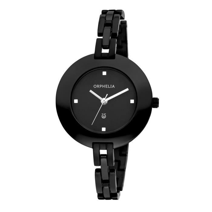 Orphelia - OR53271644 - Montre Femme - Quartz - Analogique - Bracelet céramique noir