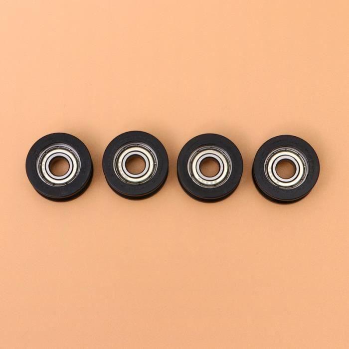 4 Pièces Roulement Poulie Portable Rouleau Nylon Enduit pour L'industrie Maison DERAILLEUR - PIECES DETACHEES DE DERAILLEUR