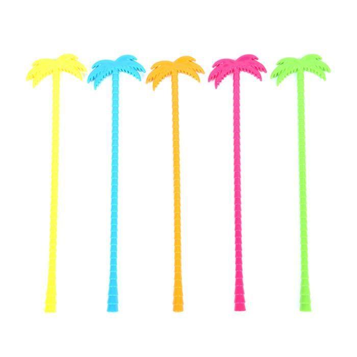 Bâton de Swizzle d'agitateur de noix de coco décoratif coloré de 25 pièces pour la barre SOIN DES CILS - SOURCILS - COLORATION