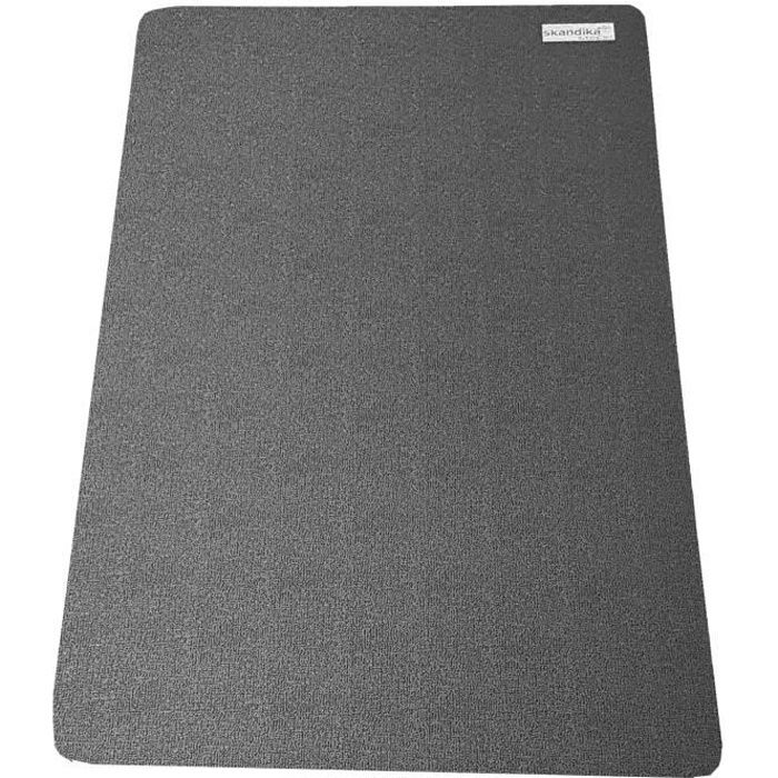 Skandika - Tapis de Protection Sol pour appareils Fitness - 60 x 120 cm - Noir