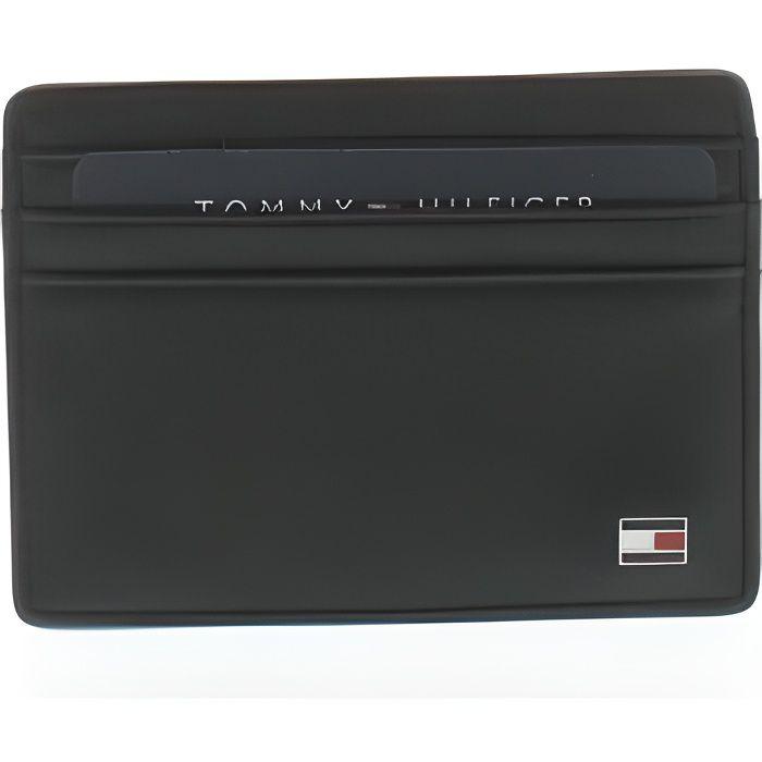 Porte-cartes Eton en cuir noir - Tommy Hilfiger
