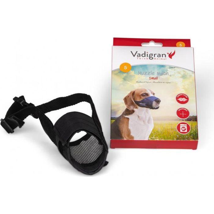 Muselière réglable en nylon cou de 18 à 44 cm. T S. pour chien type Beagle.-Vadigran 3,000000 Noir