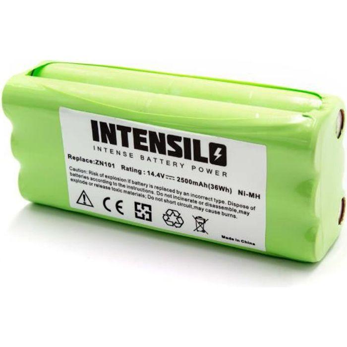INTENSILO NiMH batterie 2500mAh pour robot aspirateur Dirt Devil Fusion, Libero, M606