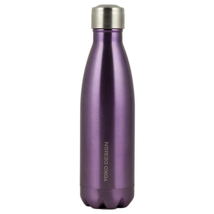 YOKO DESIGN Bouteille isotherme double paroi 500 ml violet