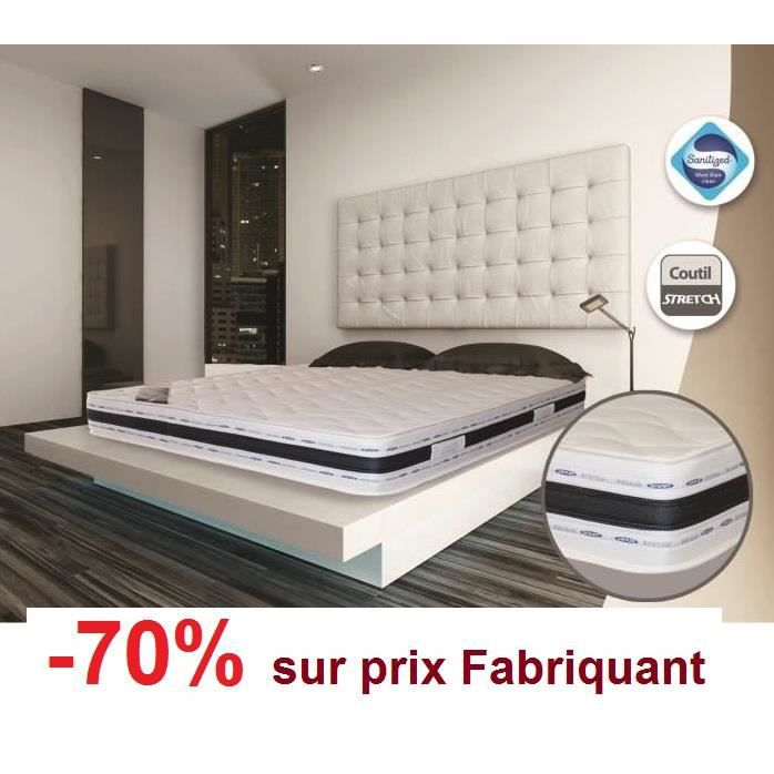 sebitna 120x190 m moire de forme 21 cm tres ferme achat vente matelas cdiscount. Black Bedroom Furniture Sets. Home Design Ideas