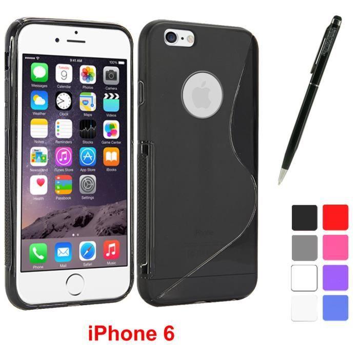 housse coque silicone apple iphone 6 plus noir