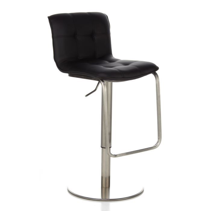 tabouret de bar tabouret haut elena en acier achat vente tabouret de bar acier. Black Bedroom Furniture Sets. Home Design Ideas