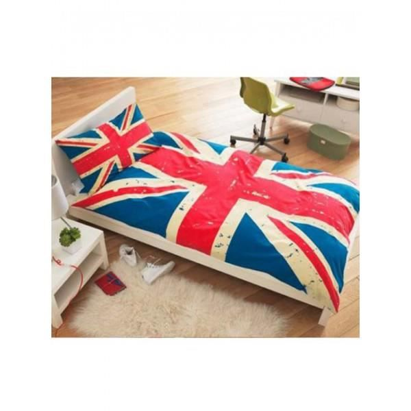 housse de couette vintage union jack achat vente. Black Bedroom Furniture Sets. Home Design Ideas