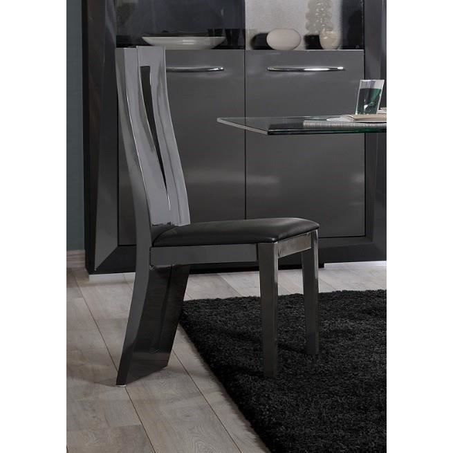 Chaise de salle manger design brooklyn coloris gris for Chaise de salle a manger taupe