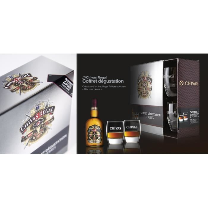 chivas regal coffret 2 verres emballage cadeau achat vente coffret cadeau alcool chivas. Black Bedroom Furniture Sets. Home Design Ideas