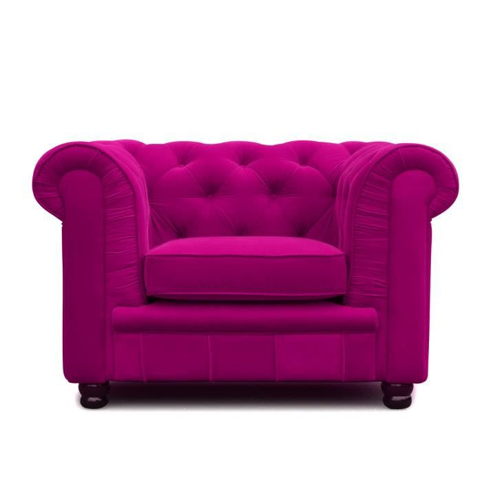 Fauteuil chesterfield 1 place rose velours chesterfield velours achat v - Fauteuil chesterfield velours ...