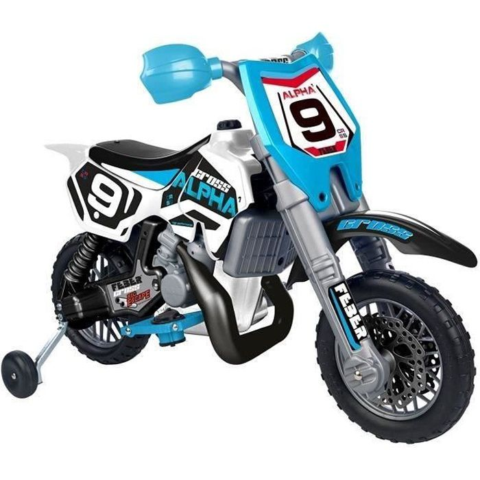 MOTO - SCOOTER FEBER Moto Electrique Enfant Cross Alpha 6 Volts 1
