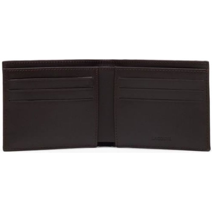 PORTEFEUILLE Portefeuille Lacoste petit Billford Brown - Couleu