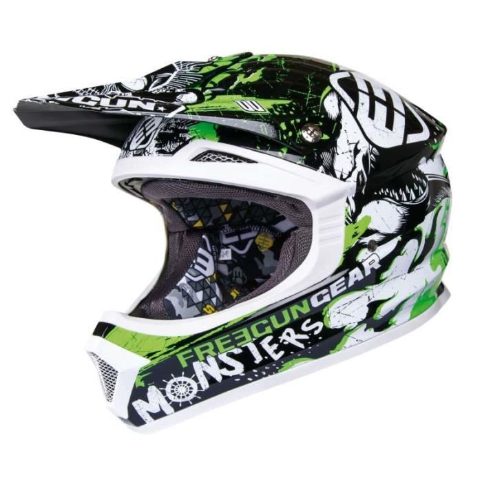 casque moto cross enfant freegun vert achat vente. Black Bedroom Furniture Sets. Home Design Ideas