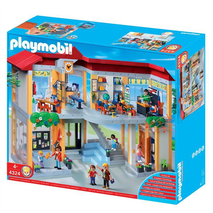 playmobil ecole 4324 achat vente univers miniature les soldes sur cdiscount cdiscount. Black Bedroom Furniture Sets. Home Design Ideas