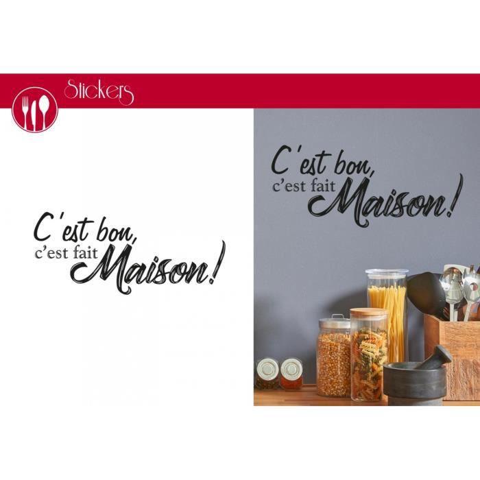 Stickers C Est Bon C Est Fait Maison 1 Planche 20 X 70 Cm Achat Vente Planche A Decouper Stickers C Est Bon C Est Cdiscount