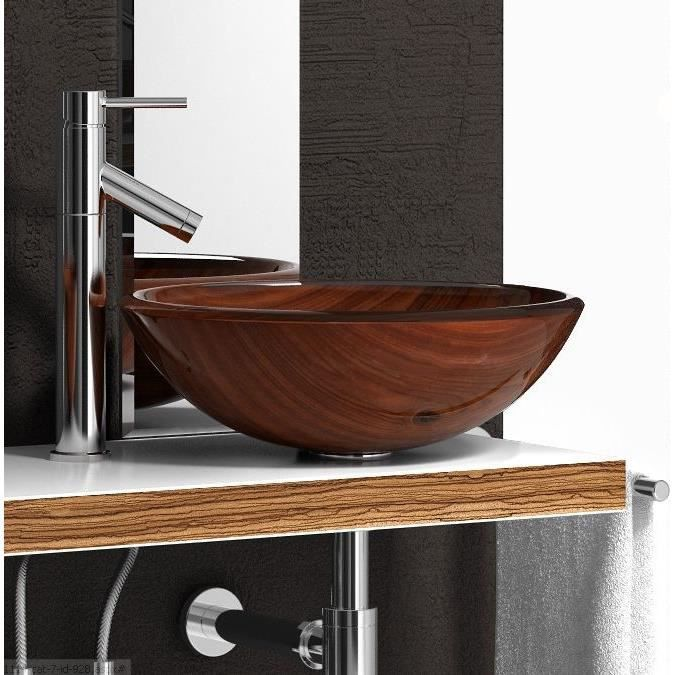 vasque lavabo en verre poser encastrer bois achat vente lavabo vasque vasque lavabo en. Black Bedroom Furniture Sets. Home Design Ideas