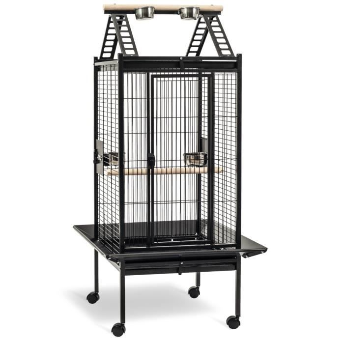 cage perruche et perroquet kambela 76 grise achat vente voli re cage oiseau cage perruche. Black Bedroom Furniture Sets. Home Design Ideas