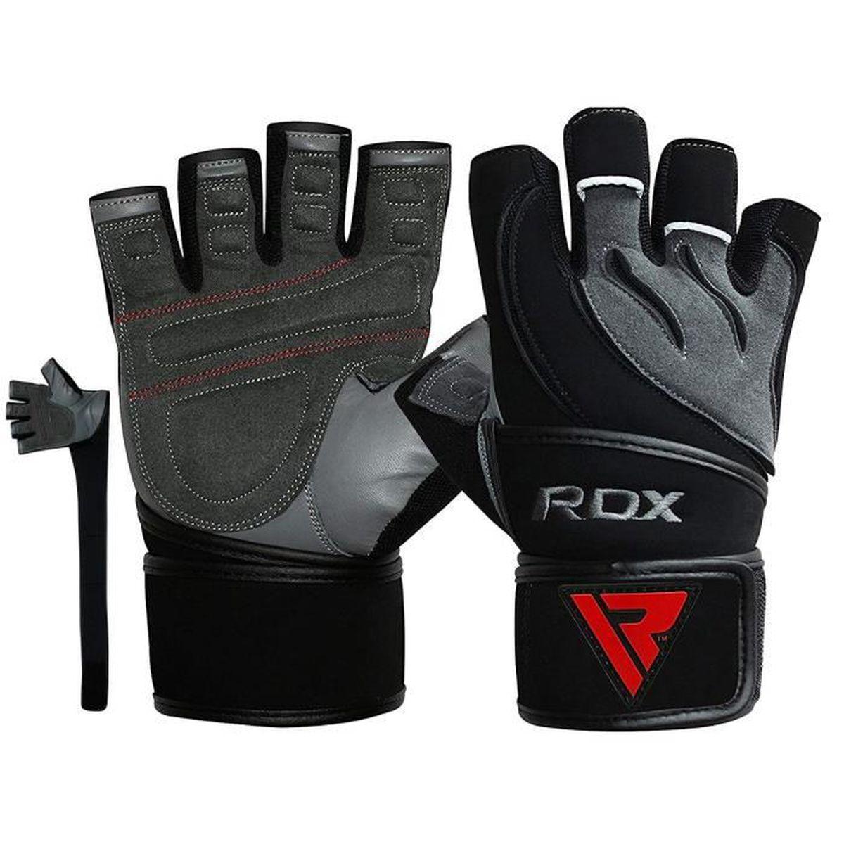 RDX Gants de Musculation Poignet Workout Entrainement Lycra Powerlifting Entra/înement La Musculation Aptitude Faire des Exercices