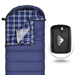 SAC DE COUCHAGE Sac de couchage en coton Flanelle pour adultes, 23