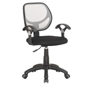 CHAISE DE BUREAU fauteuil de bureau noir et gris avec accoudoire