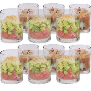 MISE EN BOUCHE 12 Verrines en Verre - pour apéritifs, dessert, su
