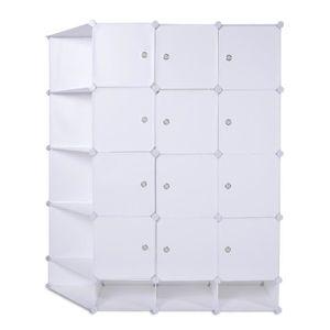 ARMOIRE DE CHAMBRE Armoire de rangement en plastique bricolage 111x37