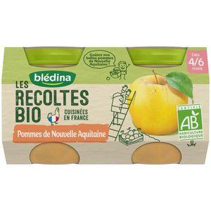 DESSERT FRUITS BÉBÉ BLEDINA Petits pots pommes de Nouvelle Aquitaines