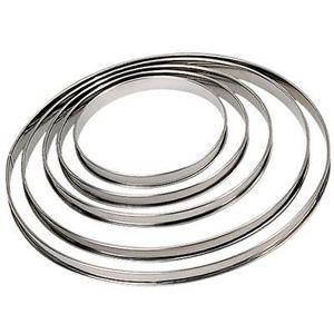 EMPORTE-PIÈCE  Cercle à tarte en inox, Ht 2cm, bord roulé ø 32