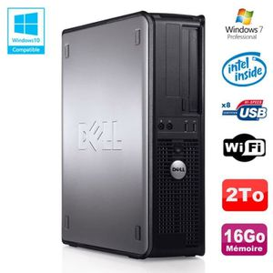 UNITÉ CENTRALE  PC DELL Optiplex 780 DT Intel E8400 3Ghz 16Go Disq