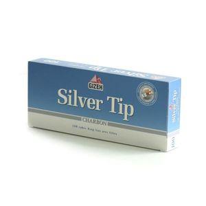TUBE À CIGARETTE Boite 100 Tubes Silver Tip Charbon avec Filtres