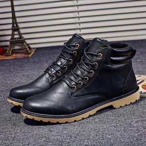 BOTTE Nouveaux Chaussures Bottes d'homme hiver d'homme e