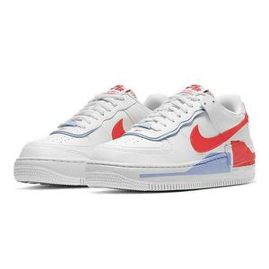 nike air force 1 blanche bleu et rouge