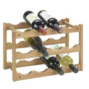 MEUBLE RANGE BOUTEILLE Étagère à vin en bois pour 12 bouteilles - Dim : L