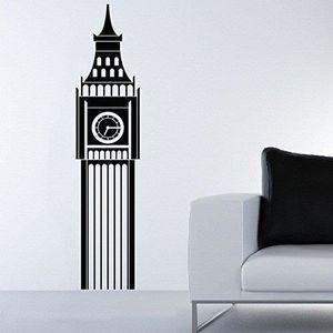 STICKERS Sticker   London Big Ben - 90 X 20 cm, Bordeaux