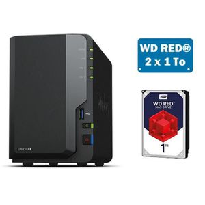 SERVEUR STOCKAGE - NAS  Synology DS218+ WD RED 2To