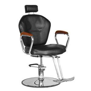 FAUTEUIL DE COIFFURE - BARBIER TEMPSA Fauteuil de Barbier En Cuir Salon Chaise de