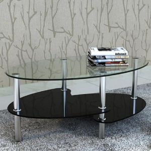 TABLE BASSE Table de salon / Table basse noire Barcelone