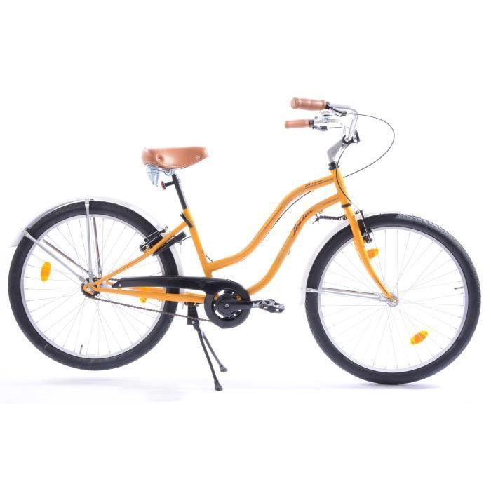 Vélo 26- CTB Cruiser- Adulte - Jaune et blanc