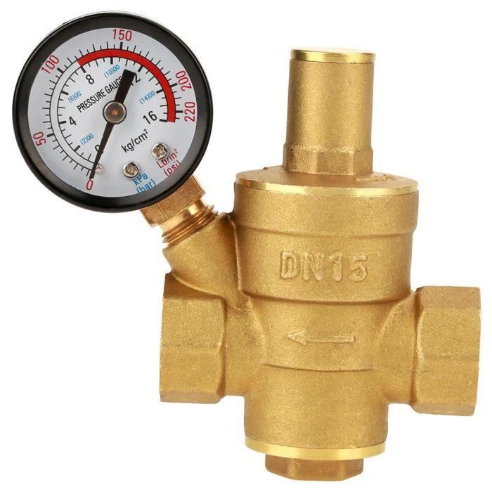 Soupape de décompression-régulateur hydraulique en laiton réglable réducteur, instrument de mesure de courroie -OHL