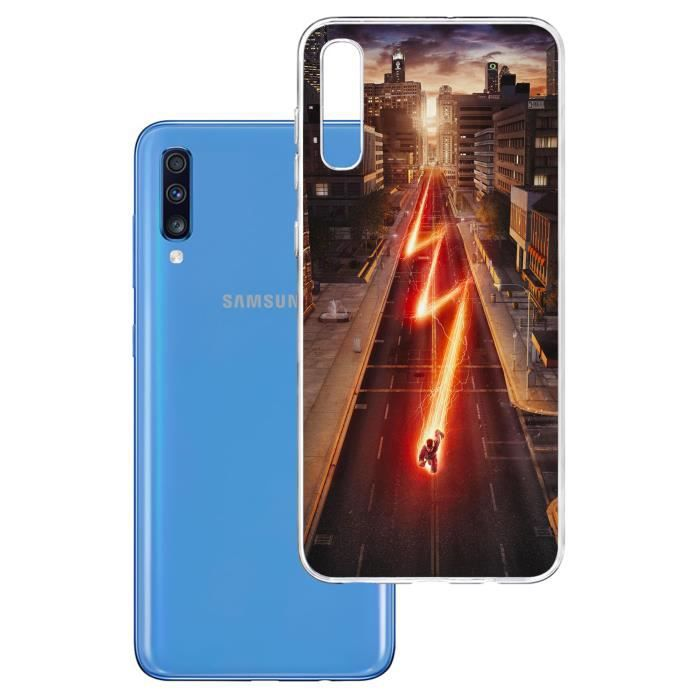 Coque pour Samsung Galaxy A70 - Flash. Accessoire pour telephone, coque rigide de protection