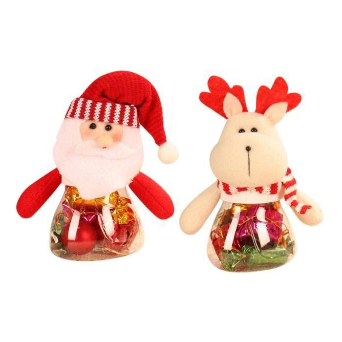 2 pièces pot de bonbons de noël conteneur vide poupée boîte de décoration de fête pots à biscuits pour la maison de WALLET