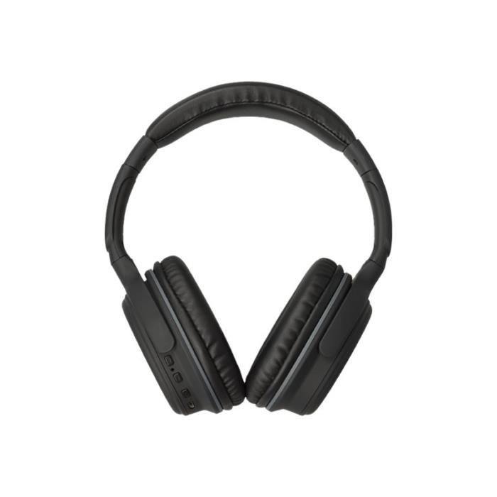 Kitsound Casque Slammers avec micro pleine taille Bluetooth sans fil jack 3,5mm Noir mat