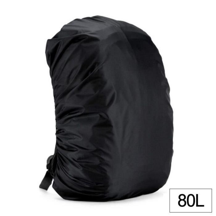 Black 80L -Housse de sac à dos étanche 35 80l, housse de pluie anti poussière pour sac à dos, housse imperméable pour Camping en ple