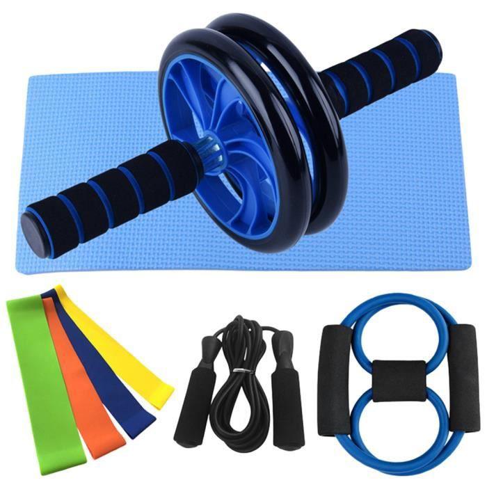 AB Wheel Appareil d'Entrainement à Domicile Appareils Abdominaux Accessoires pour Fitness Musculation Bandes de Résistance