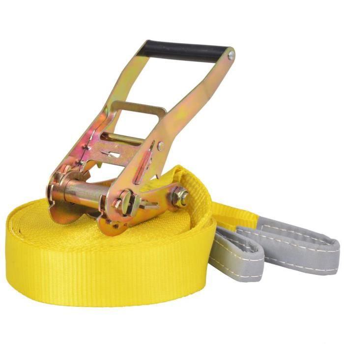 WONGSHOP®Corde lâche pour slackline 15 m x 50 mm 150 kg Jaune