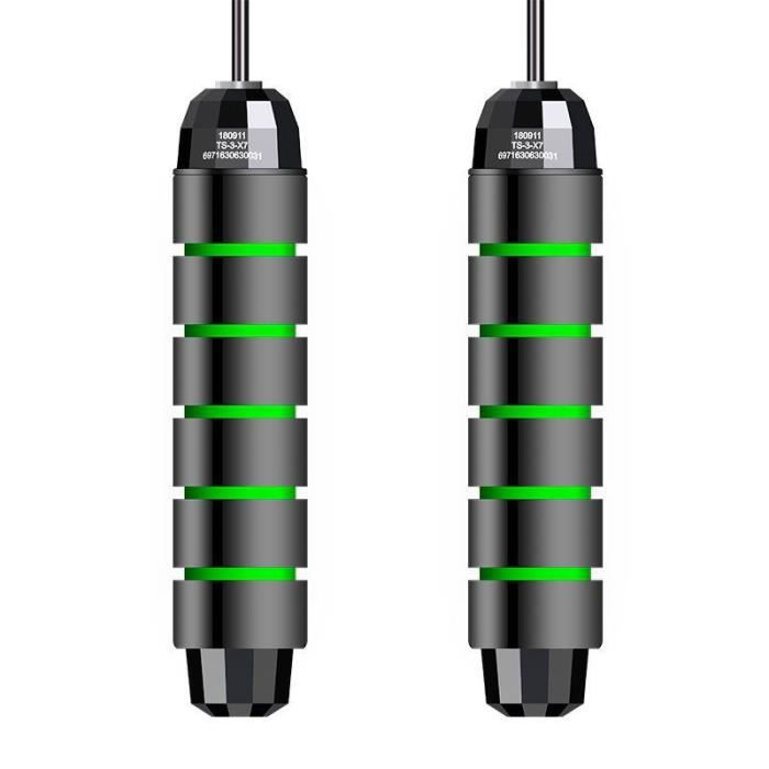 Noir Vert corde a sauter réglable pour cardio séances d'entraînement